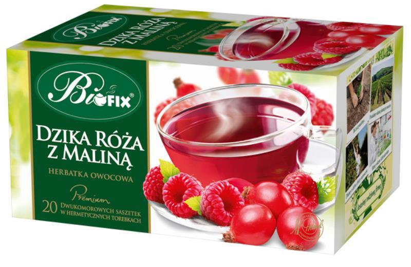 HERBATA DZIKA RÓŻA Z MALINĄ EXPR.