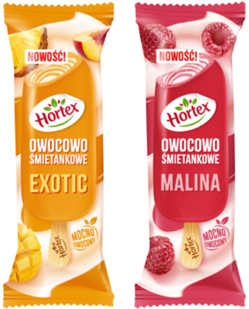 LODY HORTEX OWOCOWY MALINA I EXOTIC