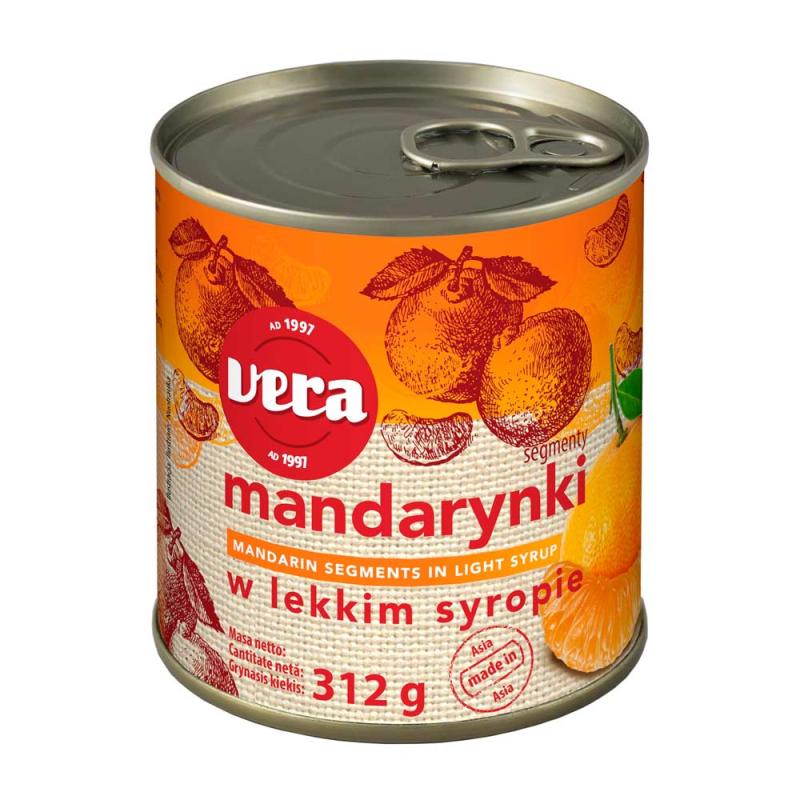 MANDARYNKI W SYROPIE W PUSZCE