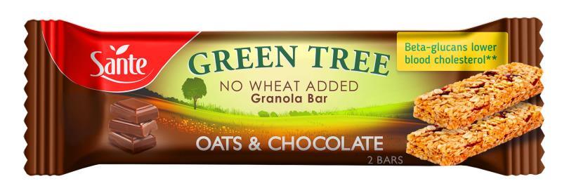 BATON GREEN TREE OWSIANY Z CZEKOLADĄ