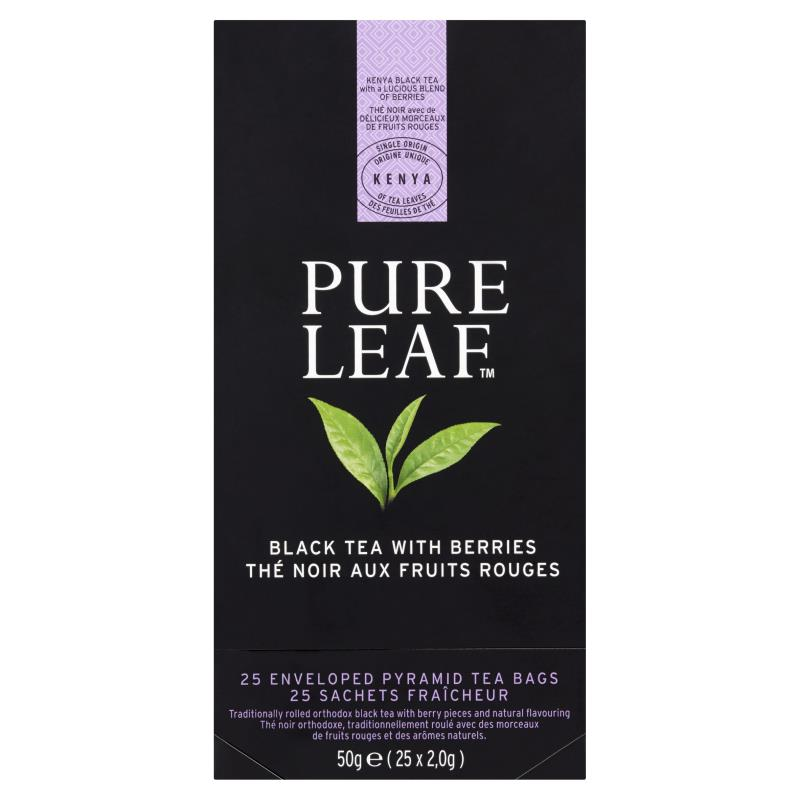 HERBATA BLACK TEA WITH BERRIES 25SZT /PURE LEAF