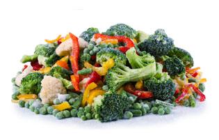 Mrożone warzywa, mieszanki warzywne, zioła